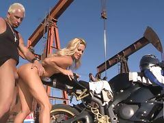 Jessica Drake loves the biker