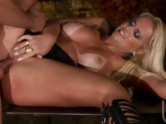 Busty Brazilian Blonde Cinthia Santos Loving Anal