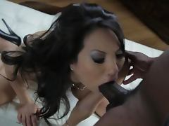 Busty Asian Babe Asa Akira Gets Fucked and Facialized By a Black Cock
