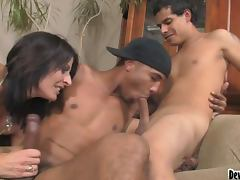 Bisexual Threesome With Two Guys and A Girl