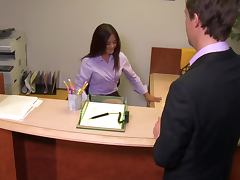 Horny Kaylani Lei Hops On One Of Her Co Worker's Hard Cock