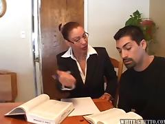 Sexy teacher gets banged during the individual lesson