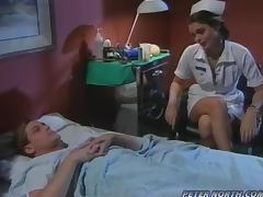 Raunchy Nurse Girl Humps Her Patient