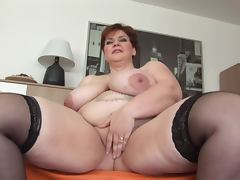 Unforgettable Shorthair BBW Milf Dildoing and Posing