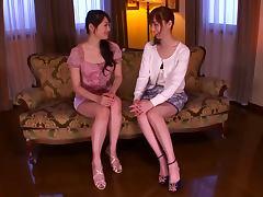 Amazing Lesbian Sex with Japanese Pussy Eater Kaede Fuyutsuki