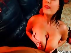 Jasmine Black fucks a guy his cock