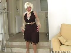 Lustful Grandmother Rides A Big Cock
