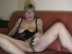 Cucumber videos. Filthy-minded sluts gladly use cucumber in order to nail their moist pussies