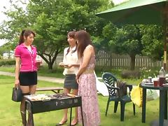 Incredible Japanese Lesbian Outdoors Sex with Beautiful Girls