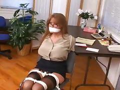 Darla Crane Ariella Ferrera in Secretary Bondage