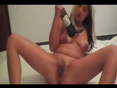 Brutal German fisting and wine bottles make her squirt
