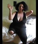 Glorious big tits amputee two stumps dancing