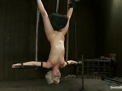 Cherry Torn and Ariel X Hang Upside Down in BDSM Vid