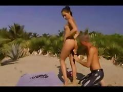 Anal sex in the beach