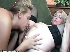 Young busty lesbian girl gets her pussy part6