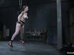 Some insane bondage for a busty girl Scarlett Pain