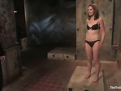 Sarah Shevon gets tied up and spanked in a hot BDSM clip
