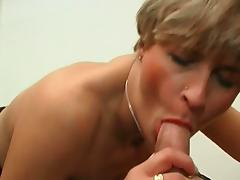 Blonde french milf gets viciously assfucked
