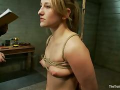 Tied up Jessie Cox gets fucked hard from behind