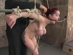 Divine redhead bunny Mz Berling is getting her tits squeezed