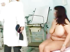 Melon size tits at gyno physician clinic