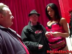 Amateur fucks a prostitute after a nasty handjob