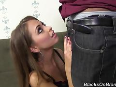 Beautiful Riley Reid gets banged by a brutal Black guy