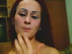 goth girl facial cumshot