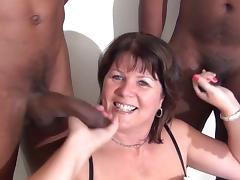 British mature sucking off black cocks