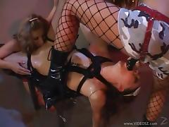 Three voracious lesbian bitches play in dirty games