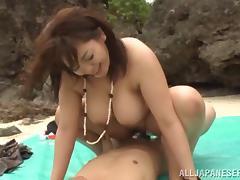 Chubby asian hottie with big tits Mizuki Ann in a hot group sex