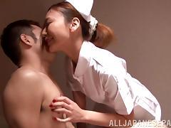 Naughty japanese nurse Mio Kuraki enjoys patient's fuck exam